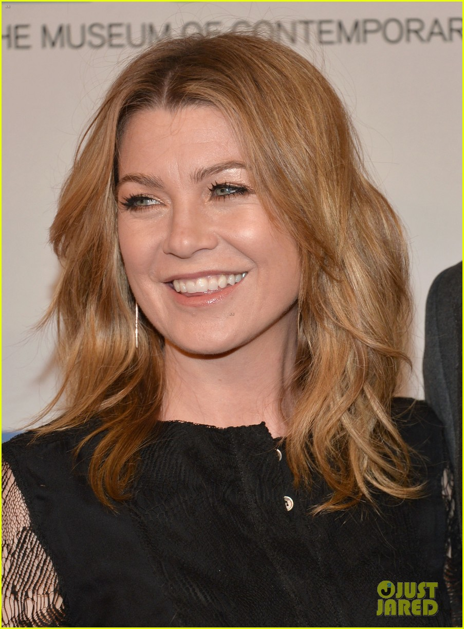 ellen pompeo moca gala 2013 with chris ivery 042854595