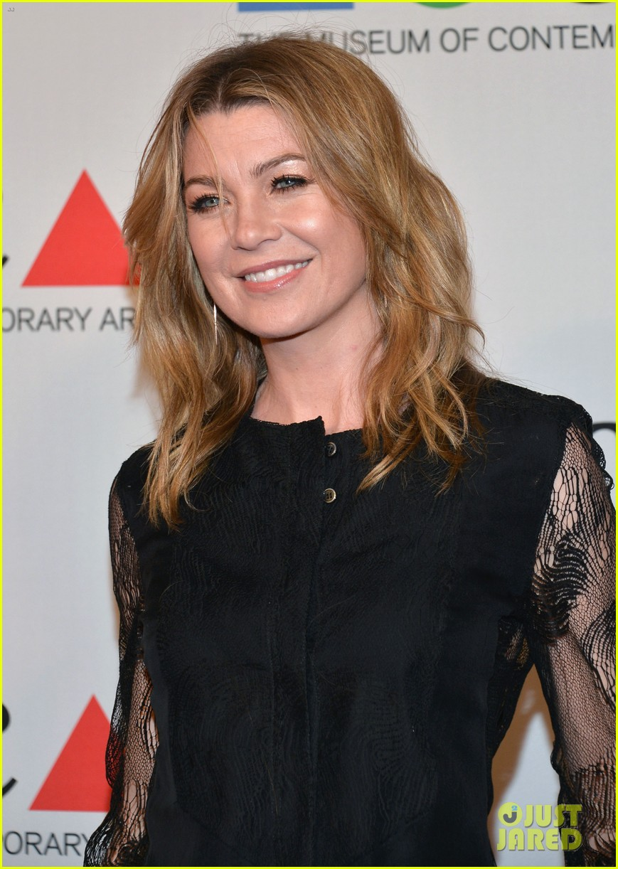ellen pompeo moca gala 2013 with chris ivery 08