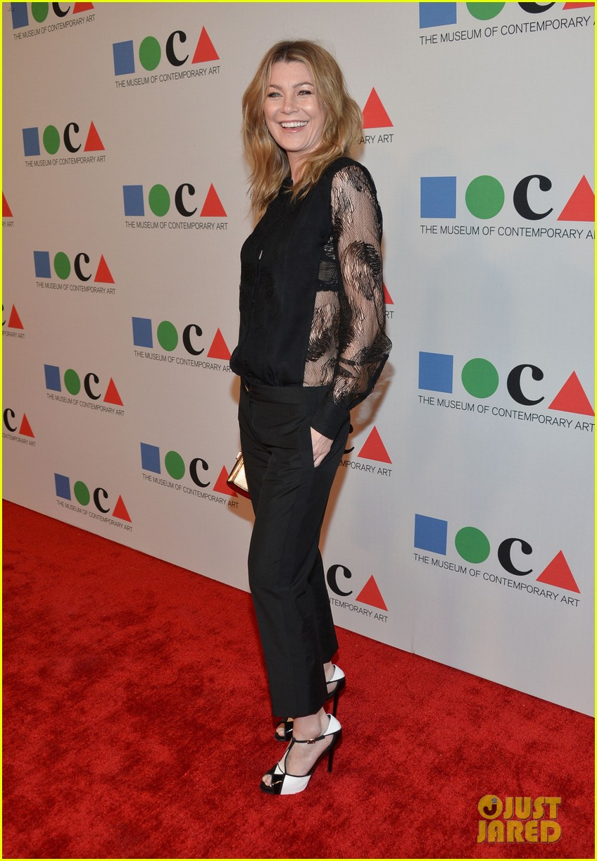 ellen pompeo moca gala 2013 with chris ivery 09