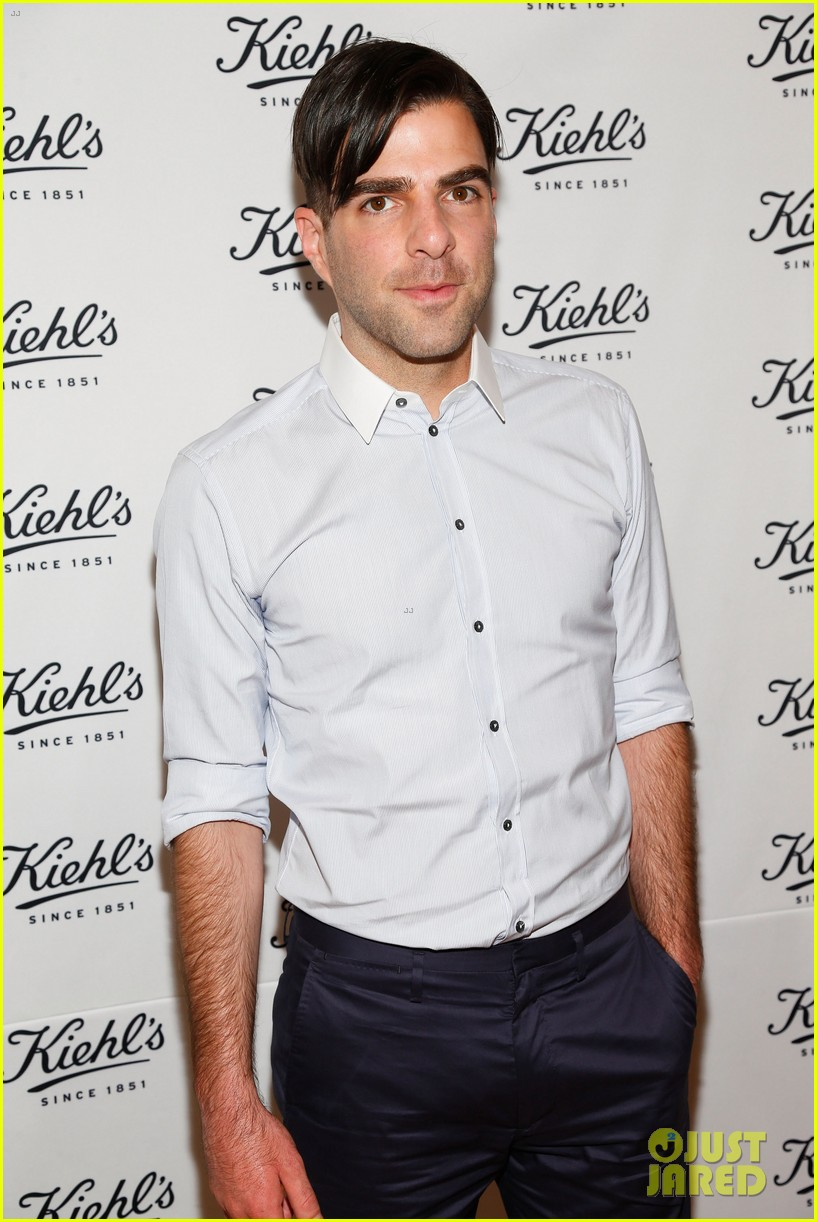 zachary quinto annasophia robb kiehls environmental launch 02