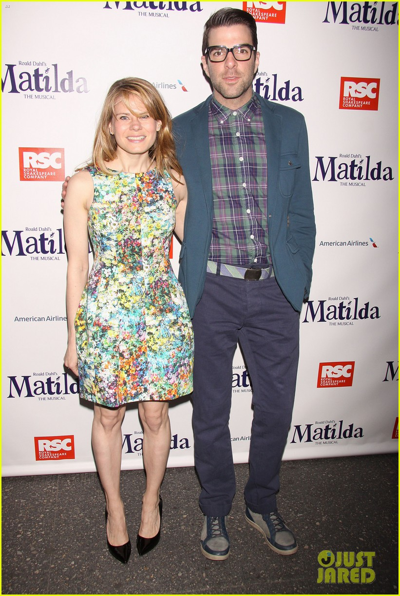 zachary quinto megan hilty matilda opening night 012848115