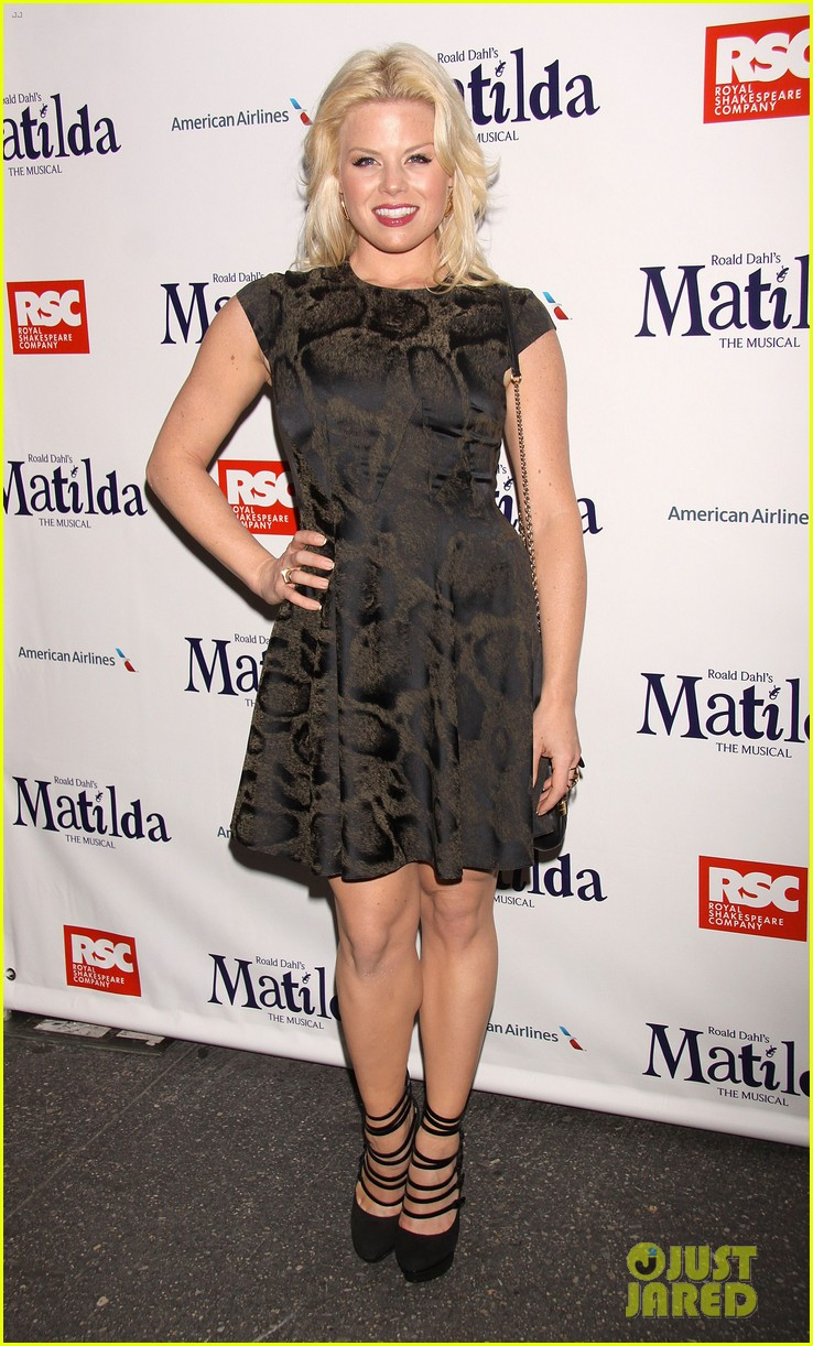 zachary quinto megan hilty matilda opening night 03