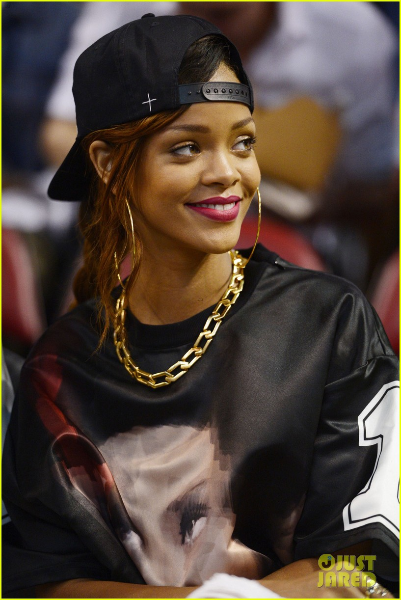 rihanna miami heat game night 07