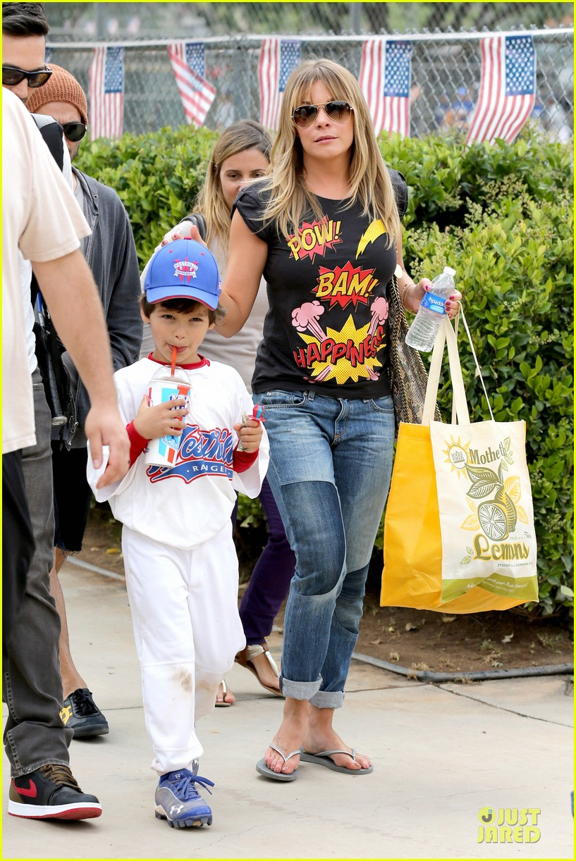 leann rimes eddie cibrian jake baseball game before birthday party 072849575