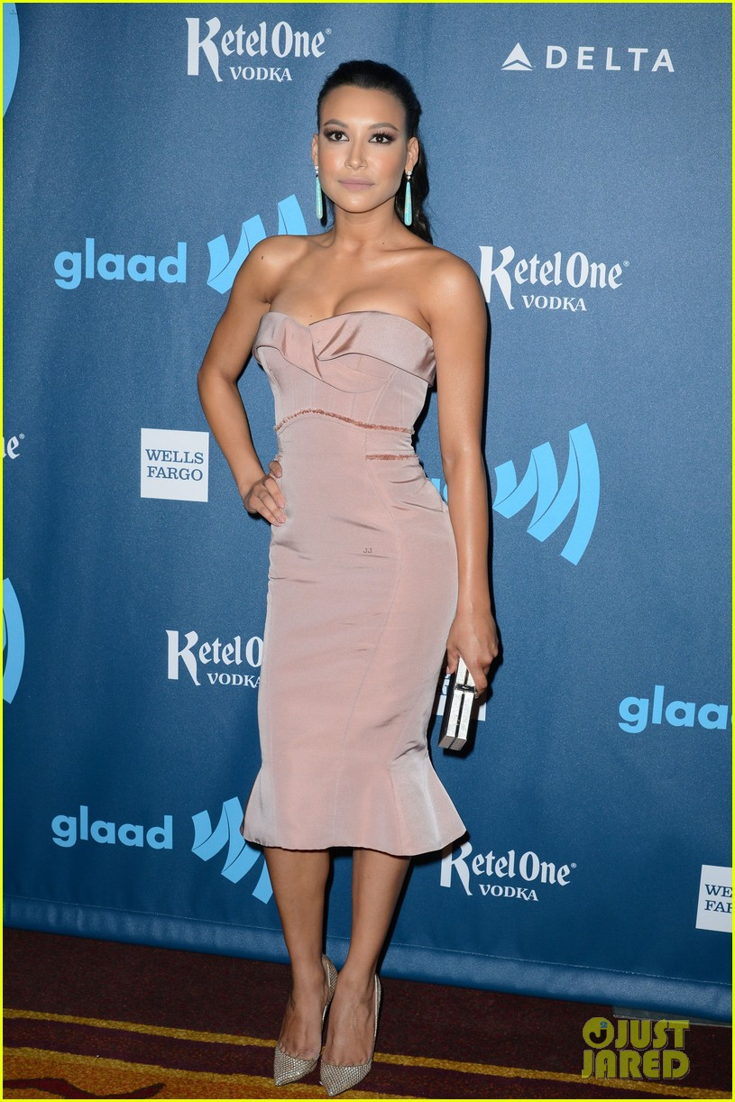 naya rivera darren criss glaad media awards 2013 01