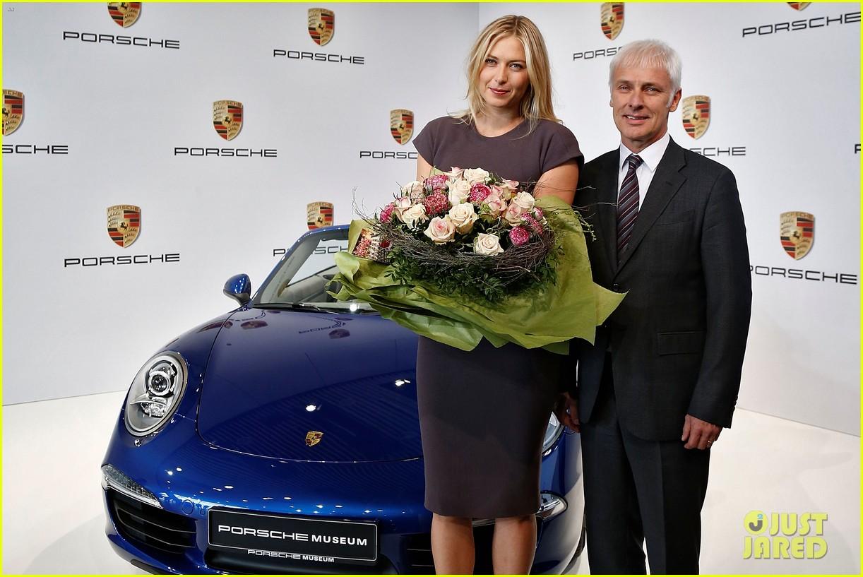 maria sharapova porsche new brand ambassador 092855784