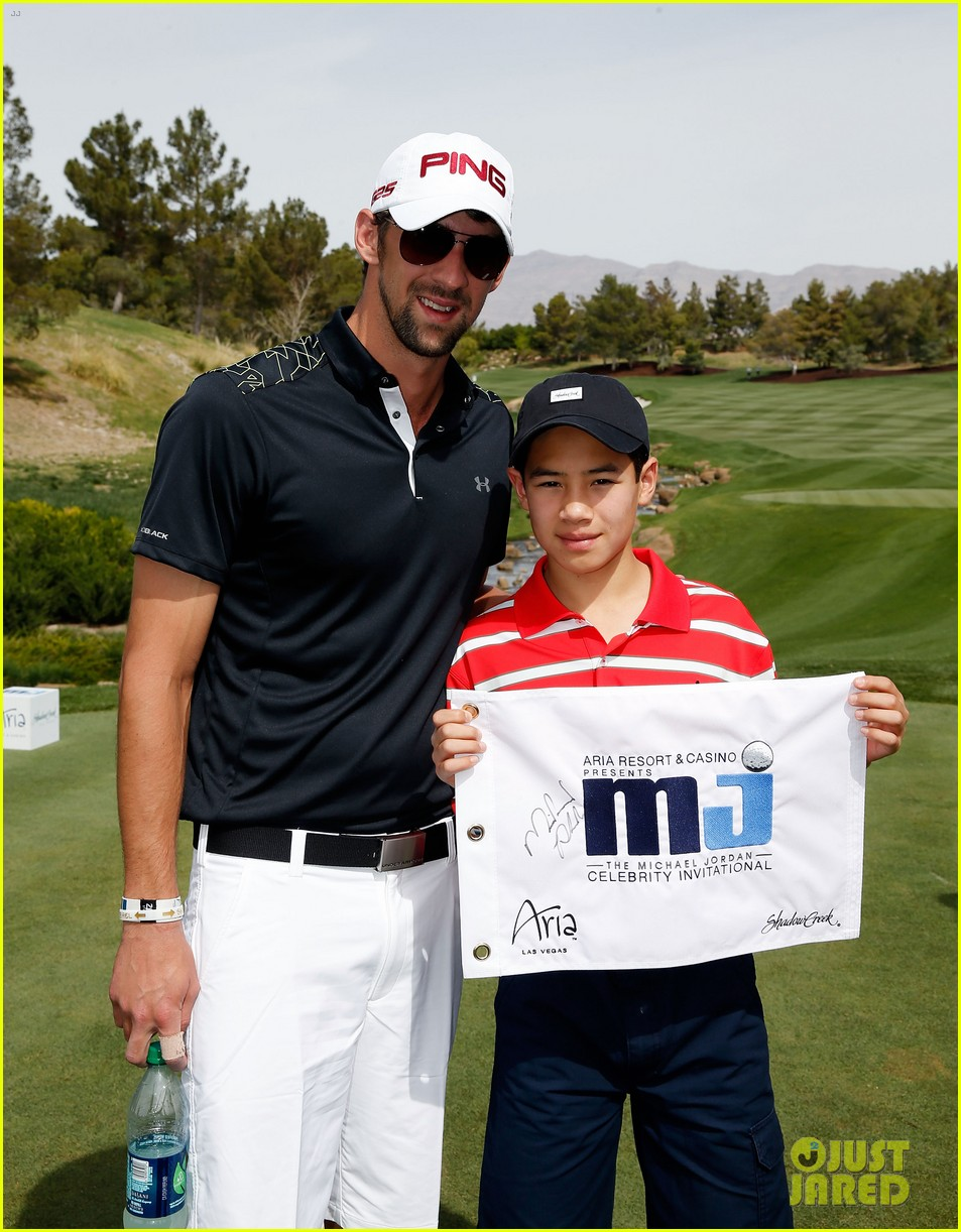 will smith michael phelps celebrity golf tournament 09