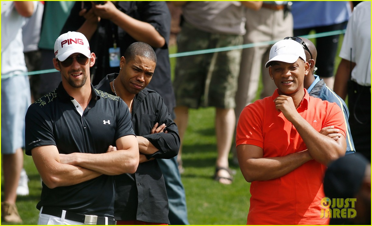 will smith michael phelps celebrity golf tournament 17