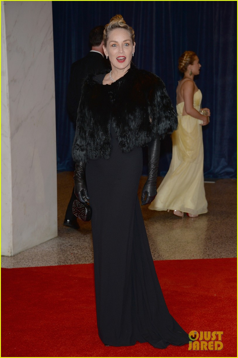 sharon stone white house correspondents dinner 2013 03