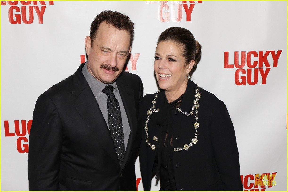 chrissy teigen tom hanks lucky guy broadway opening night 20