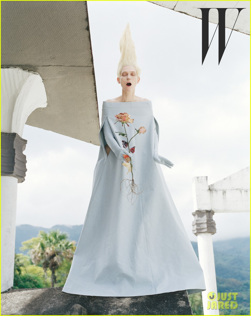 tilda swinton caterpillar covered for w magazine 032852649