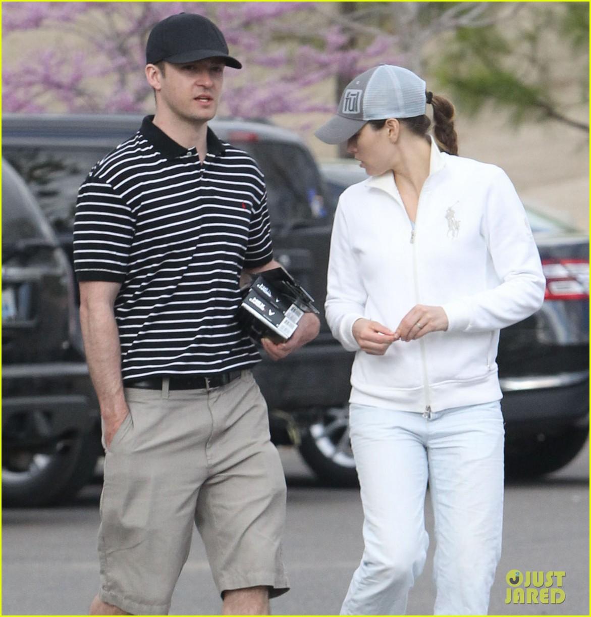 justin timberlake jessica biel golf date duo 09