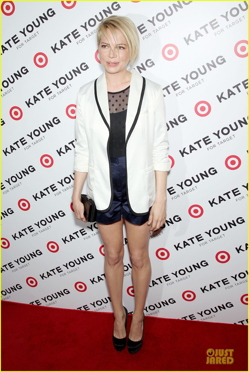 michelle williams haircut debut at kate young for target launch 092846441