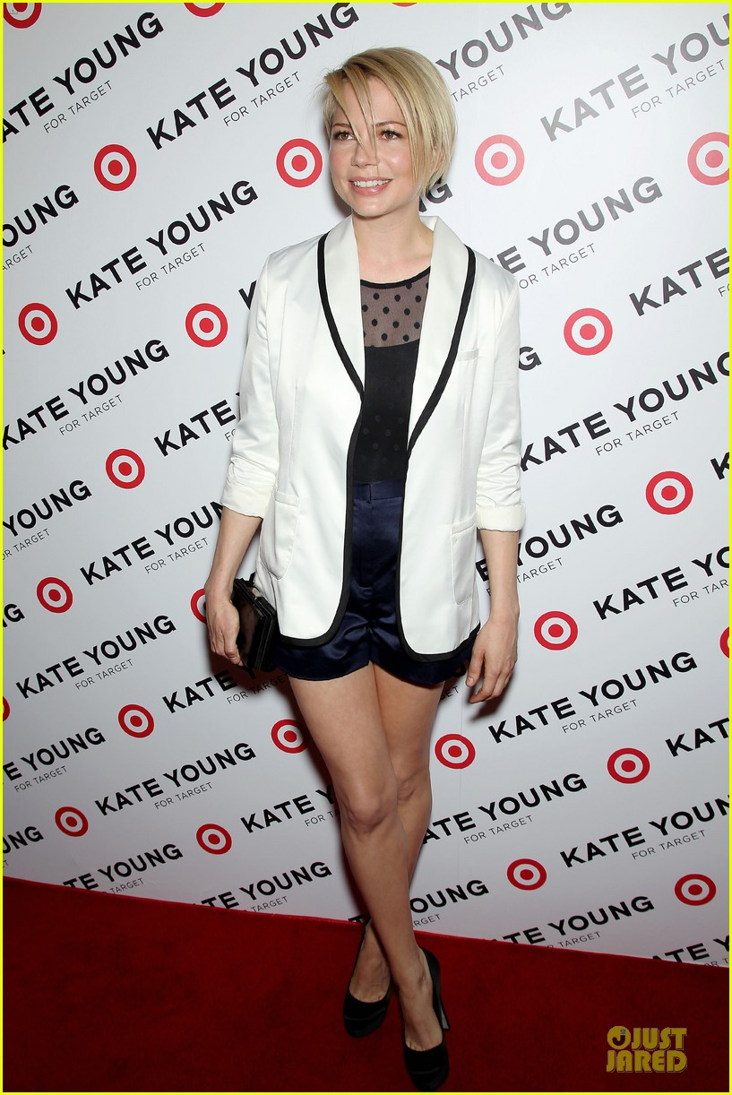 michelle williams haircut debut at kate young for target launch 142846446