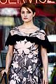 dianna agron wears floral dress with cape to att store 05