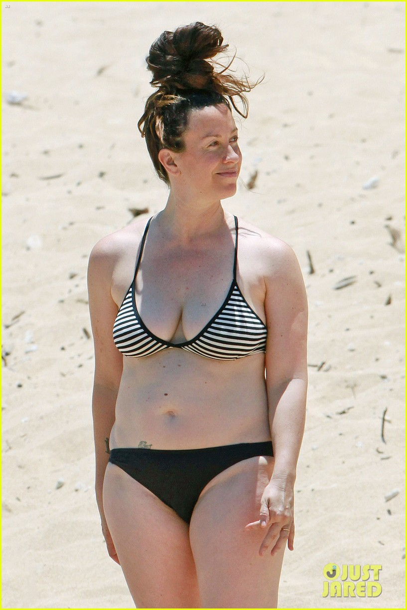 alanis morissette bikini beach vacation with ever 082863999