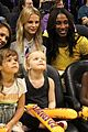 jessica alba cash warren attend la sparks game with the kids 05