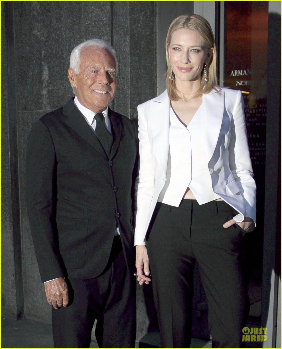 cate blanchett giorgio armani hold hands in milan 11