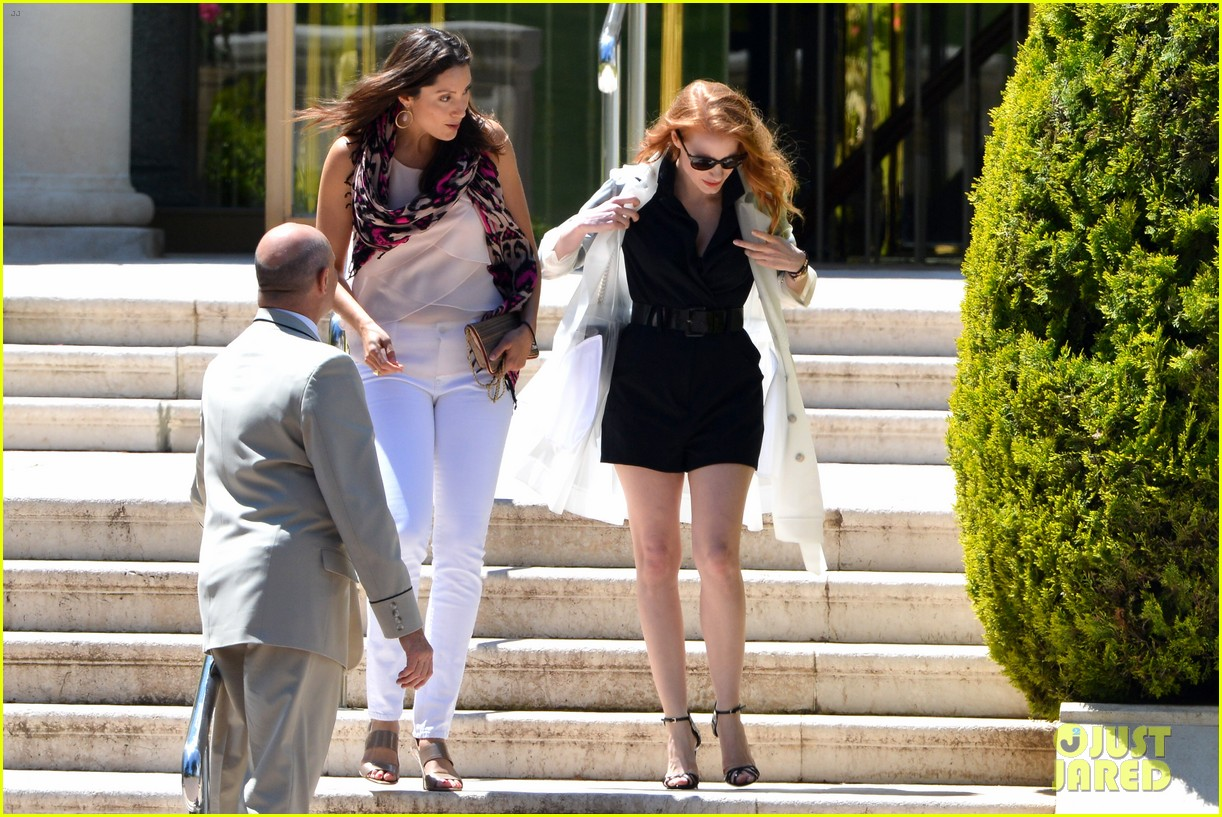 jessica chastain bares legs for days in cannes 11