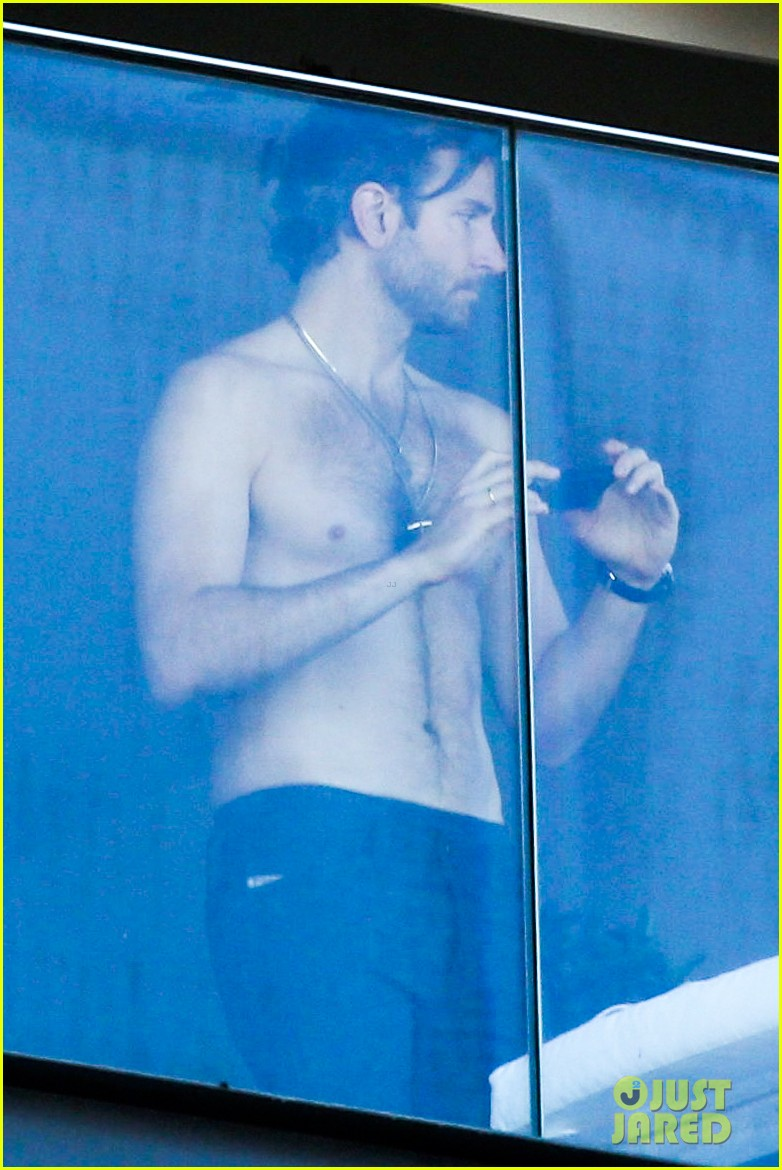 bradley cooper shirtless after brazil arrival with hangover guys 022879422
