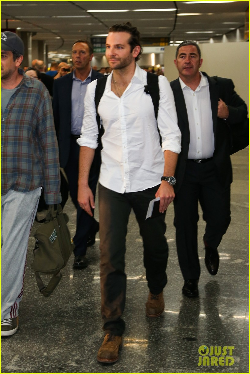 bradley cooper shirtless after brazil arrival with hangover guys 272879447