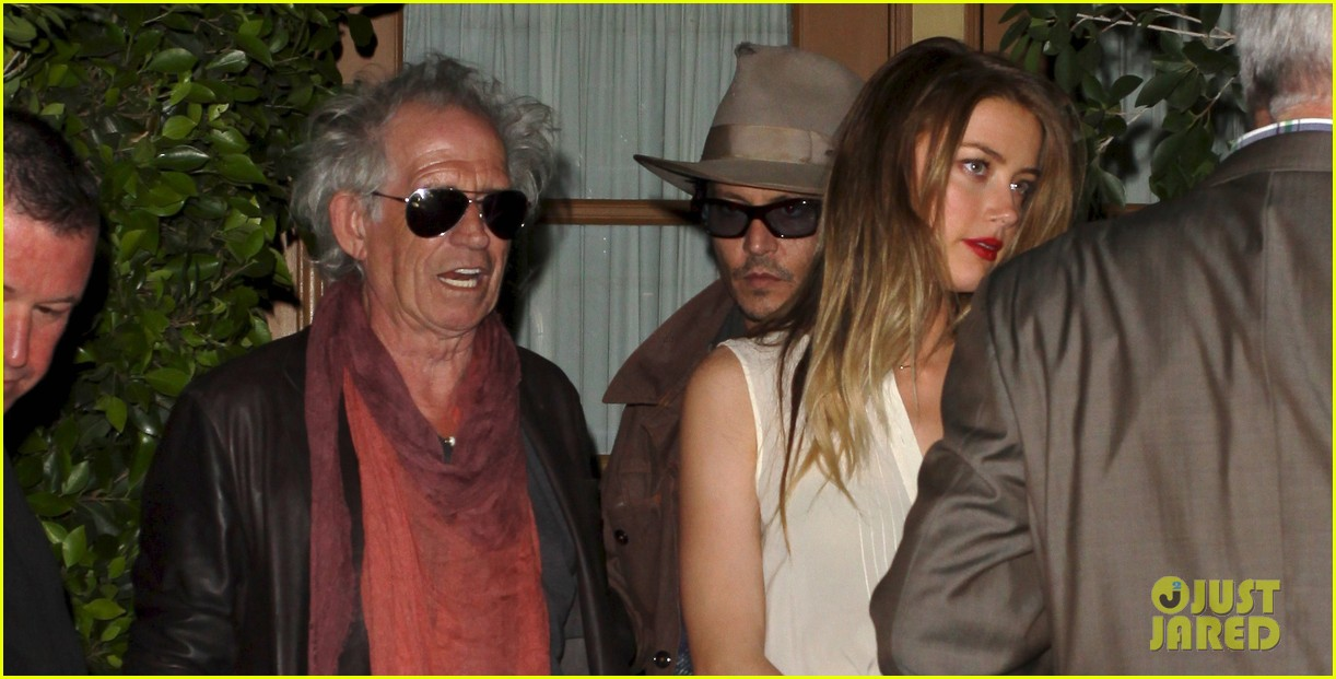 johnny depp amber heard dinner with keith richards 01