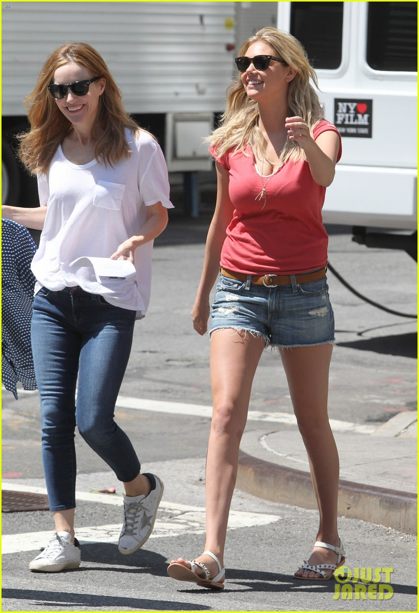 cameron diaz hides kate upton smiles wide on set 07