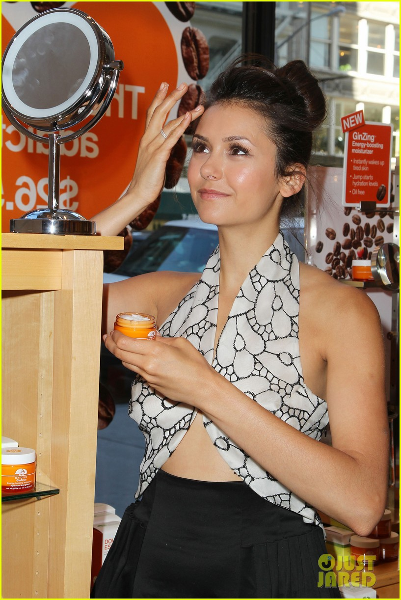 nina dobrev new origins ginzing moisturizer launch 172863005