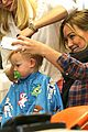 hilary duff luca gets his hair cut 06