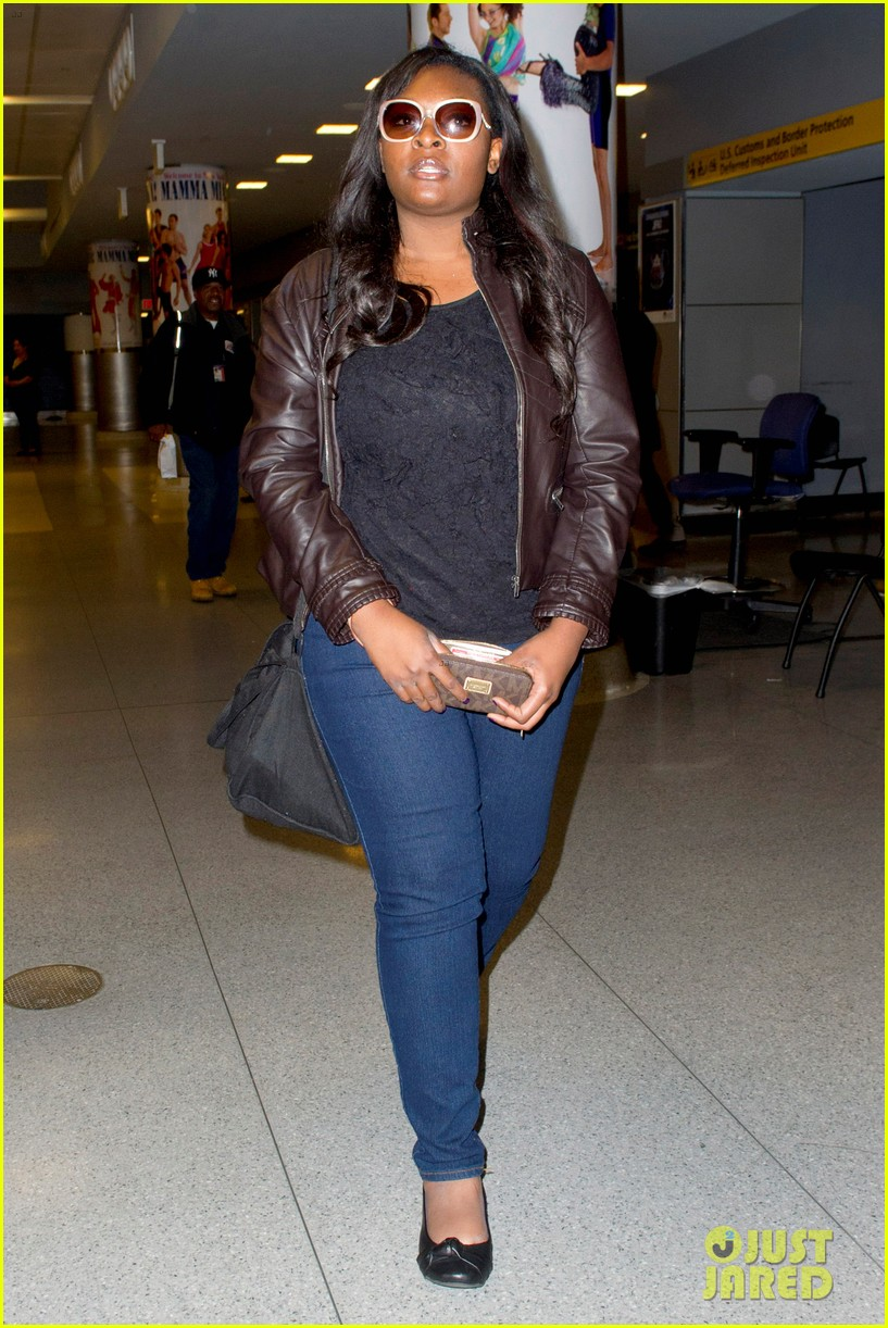 candice glover kree harrison jfk arrival for idol promo 012873205