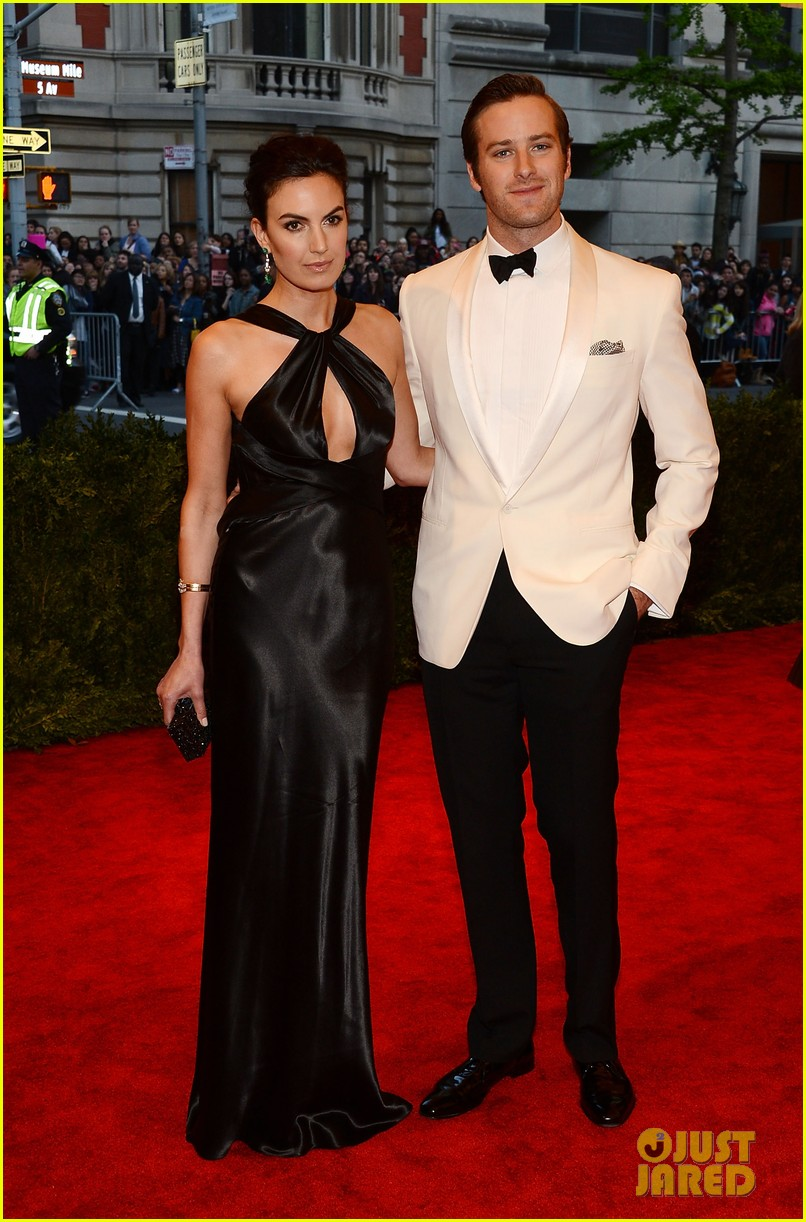 armie hammer met ball 2013 red carpet with elizabeth chambers 042865905
