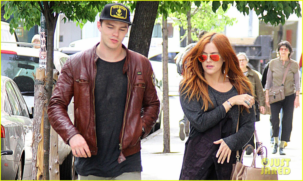 nicholas hoult riley keough stroll in soho 03
