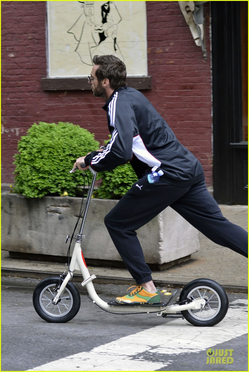 hugh jackman big apple scooter rider 06