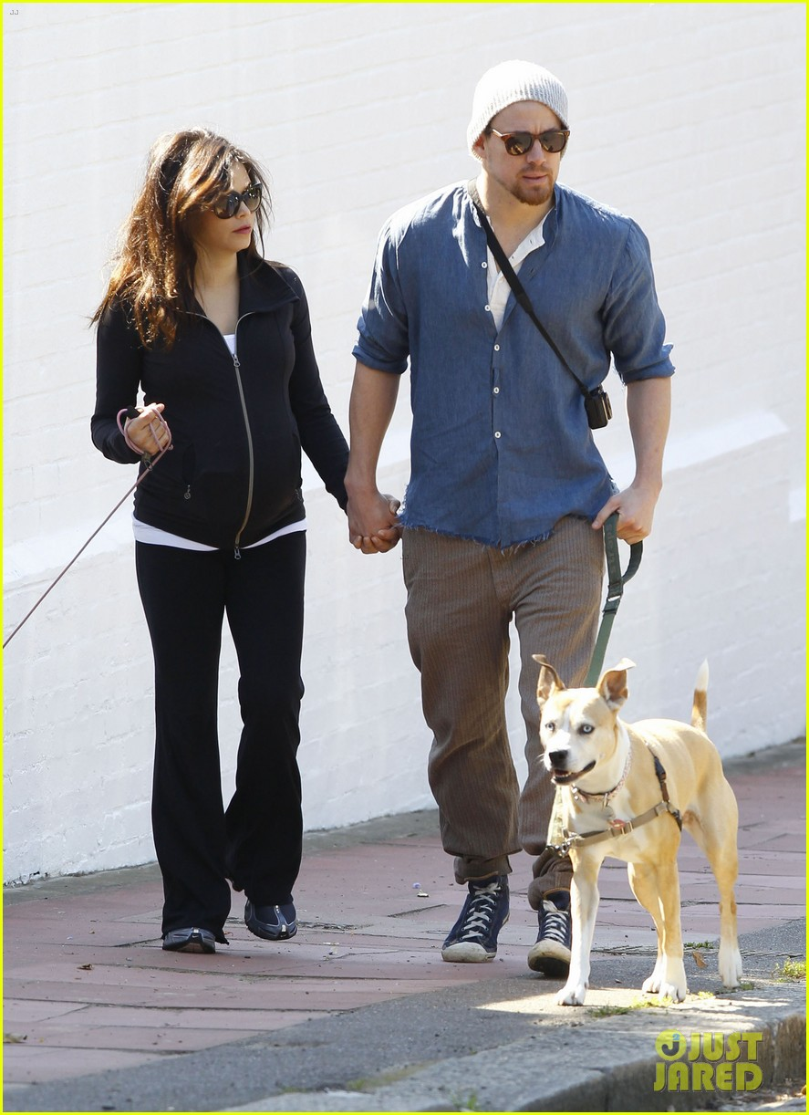 channing tatum jenna dewan take a dog walk following vet visit 17
