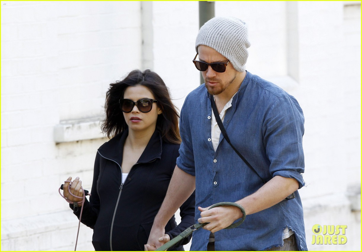 channing tatum jenna dewan take a dog walk following vet visit 20