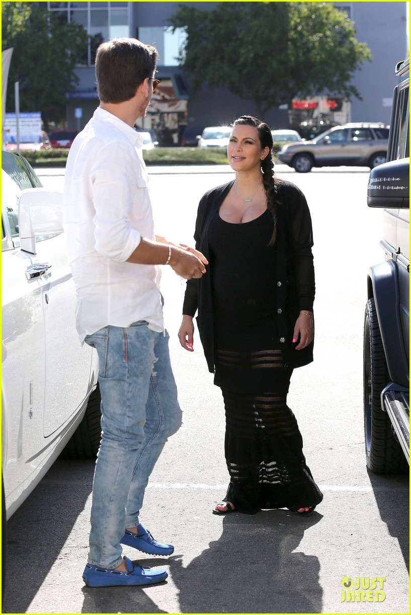 kim kardashian sheer baby bump celebration 16