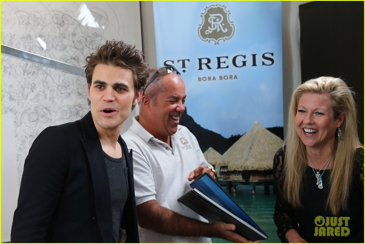 stacy keibler paul wesley stella artois suite at cannes 112876198