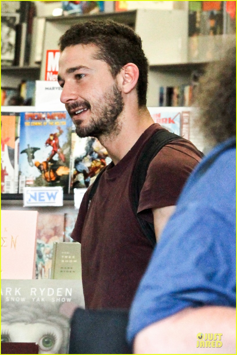 shia labeouf stale n mate book signing 122863611