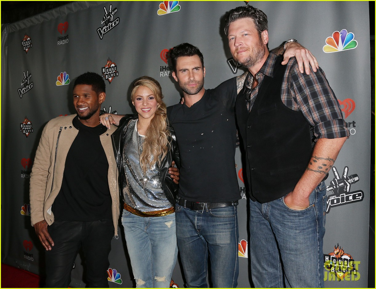 adam levine shakira the voice season 4 finalists party 01