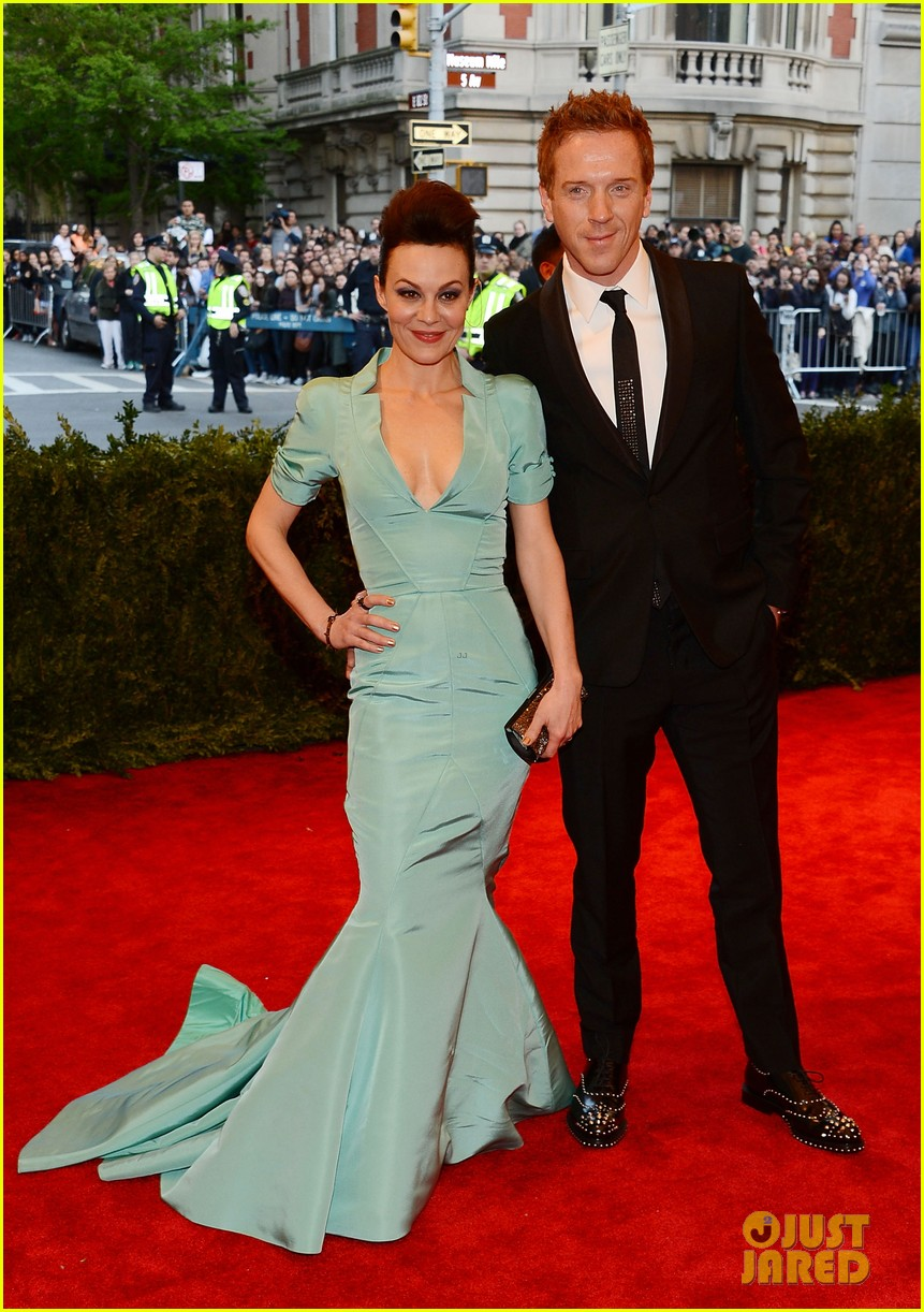 damian lewis morgan saylor met ball 2013 red carpet 09