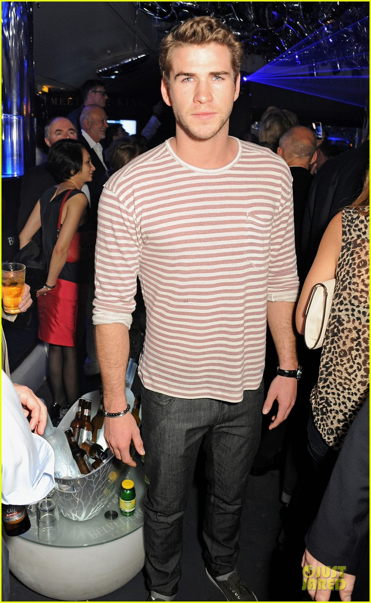 liam hemsworth parties at cannes miley cyrus plaid recording session 01