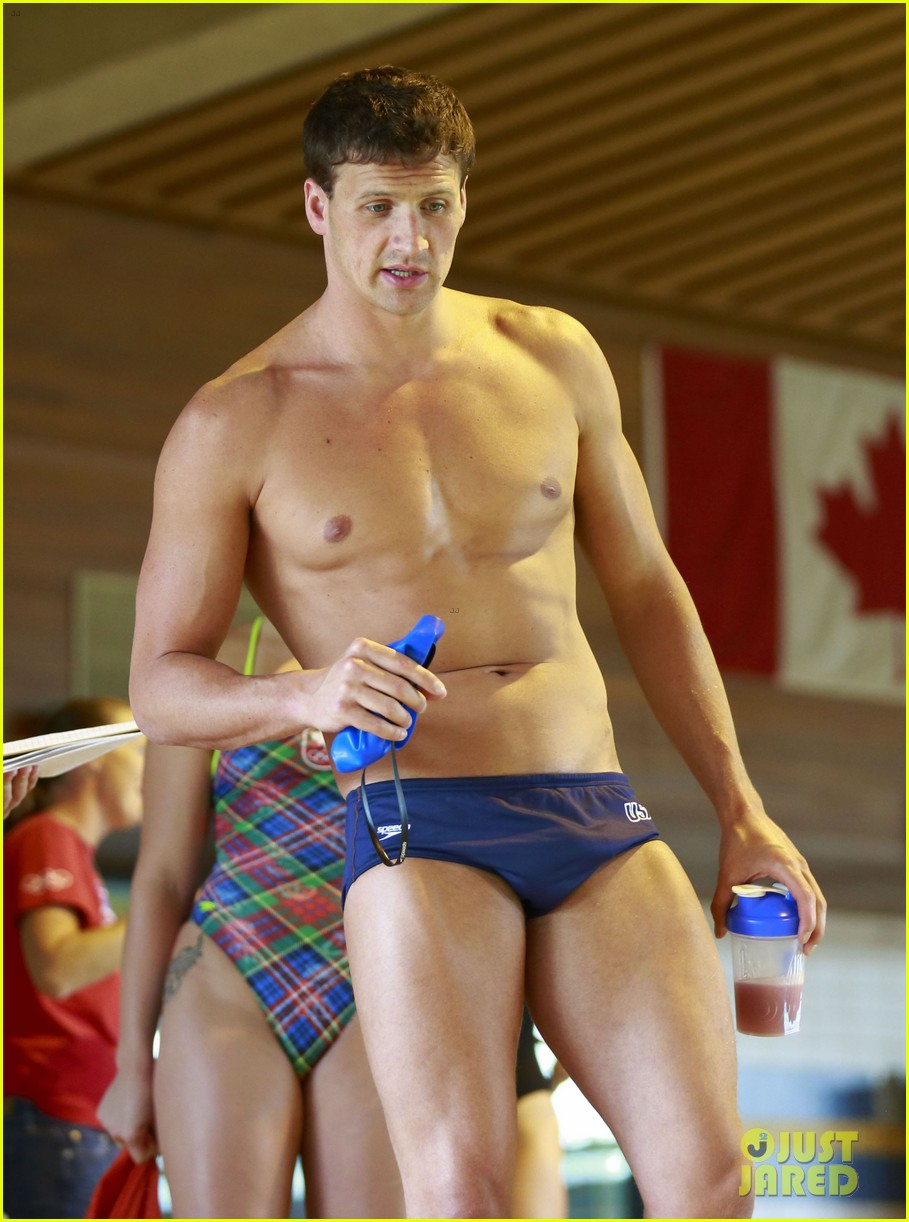 ryan lochte shirtless speedo workout in vancouver 082877733