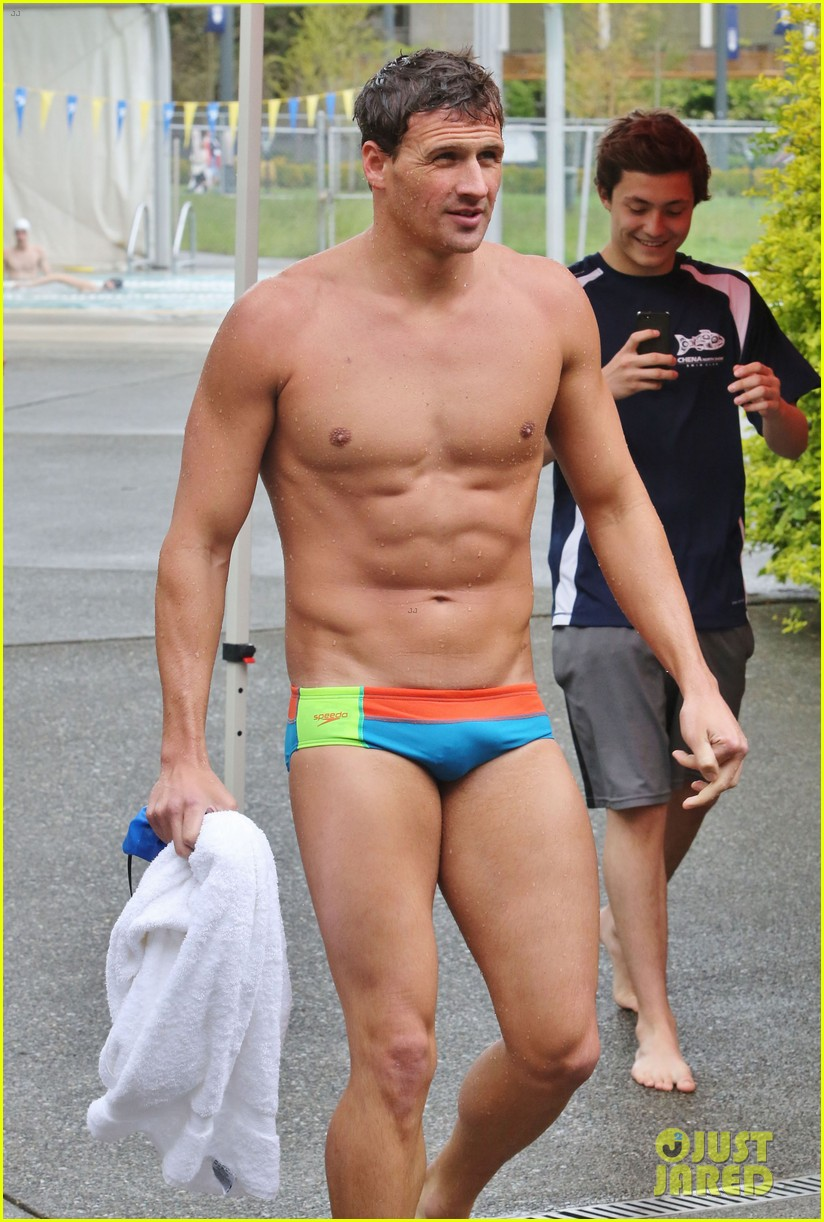 ryan lochte shirtless speedo stud for mel zajac jr meet 03