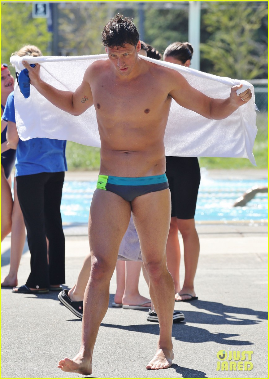 ryan lochte shirtless speedo stud for mel zajac jr meet 05