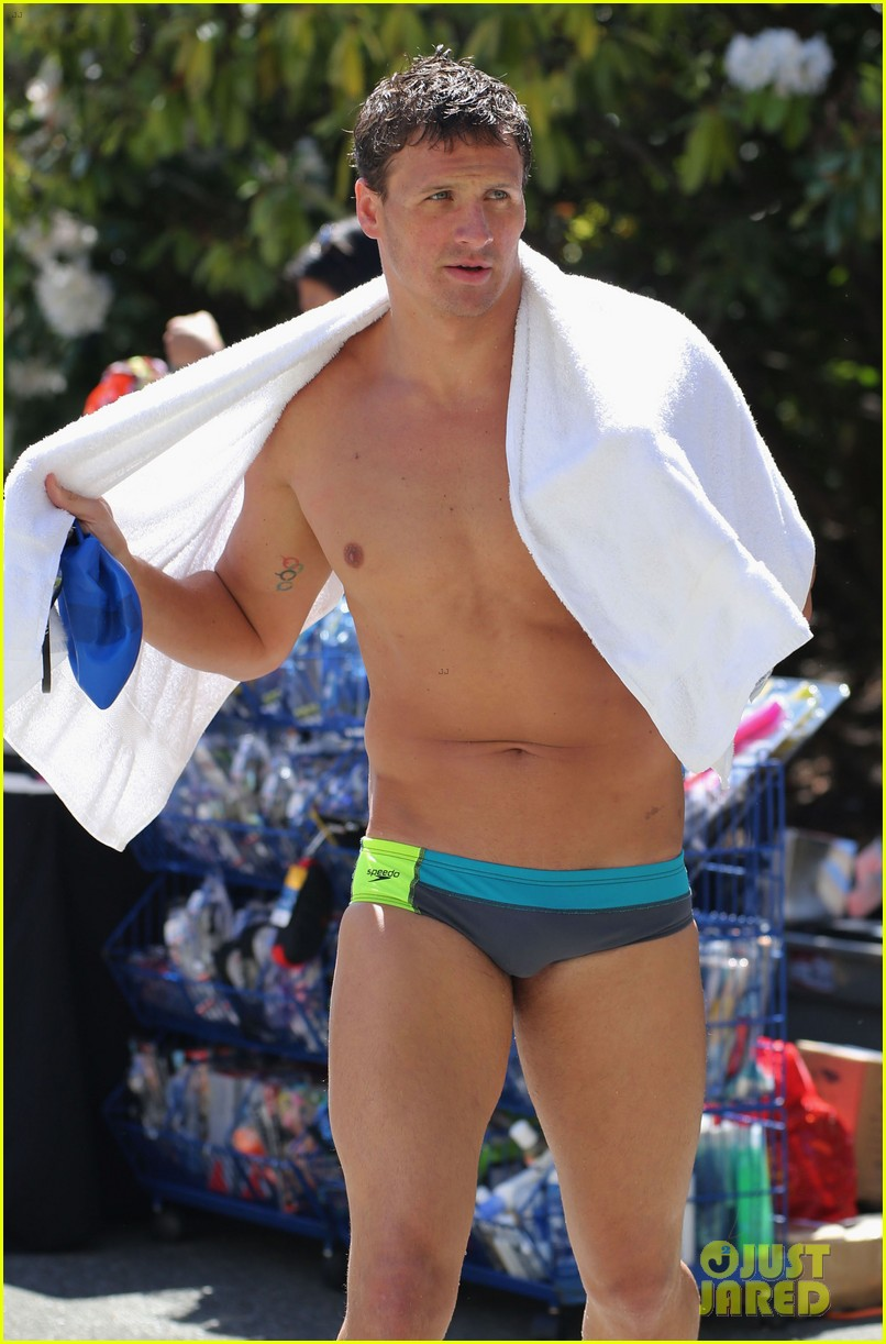 ryan lochte shirtless speedo stud for mel zajac jr meet 06