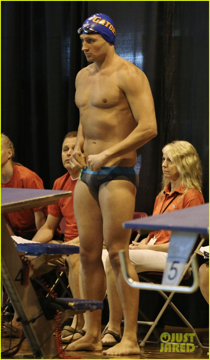 ryan lochte shirtless speedo stud for mel zajac jr meet 09