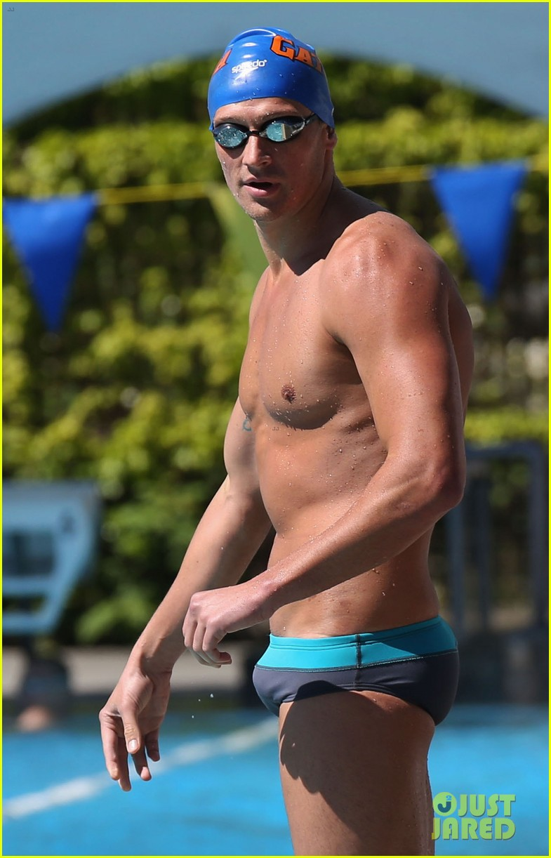 ryan lochte shirtless speedo stud for mel zajac jr meet 13