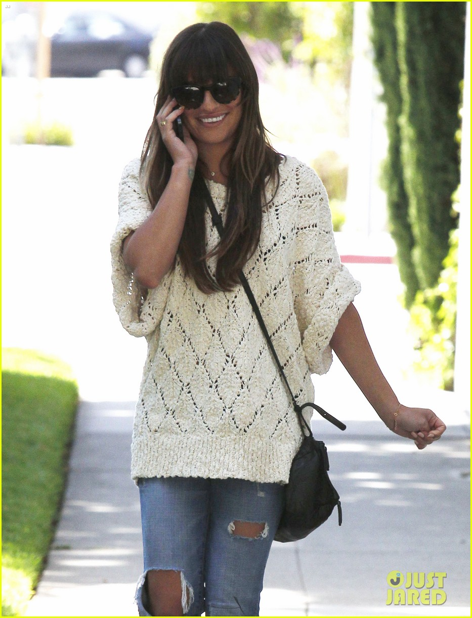 lea michele visits dentist after date night with cory monteith 02