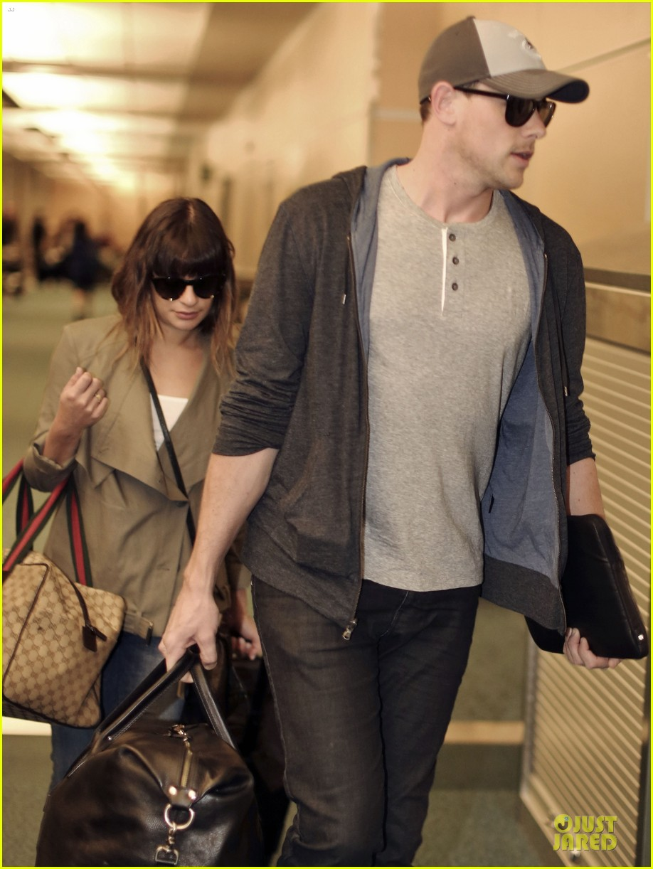 lea michele cory monteith vancouver departing couple 042863474