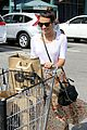lea michele sheer grocery run cory monteith striped office meeting 17